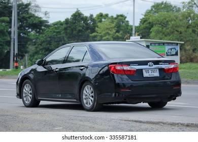 CHIANGMAI, THAILAND -SEPTEMBER  8 2015:  Private car toyota Camry. Photo at road no 121 about 8 km from downtown Chiangmai, thailand.