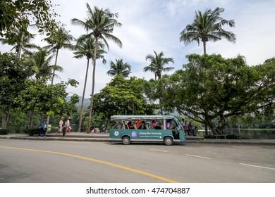 CHIANGMAI UNIVERSITY , CHIANGMAI , THAILAND , AUG 22 : Public transportation for tourist to travel around Chiangmai University , Chiangmai , Thailand on August 22 2016.