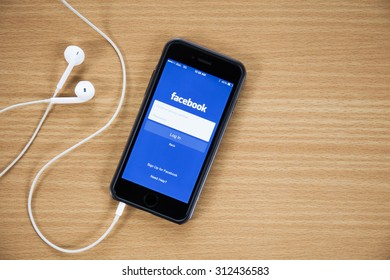 CHIANGMAI,THAILAND - AUGUST 31, 2015:Facebook is an online social networking service founded in February 2004 by Mark Zuckerberg with his college roommates and is now a fortune 500 company.