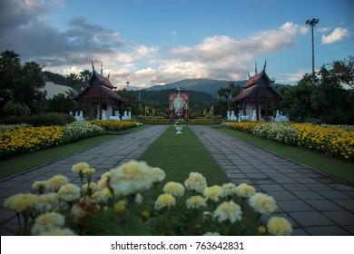 Chiangmai-Thailand. December,21,2017. View Profile Reign of King Rama 9 in Chiang Mai.