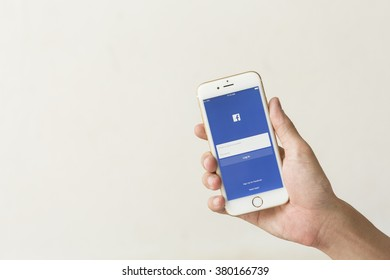 CHIANGMAI,THAILAND - FEB 19, 2016: Facebook is an online social networking service founded in February 2004 by Mark Zuckerberg with his college roommates and is now a fortune 500 company.