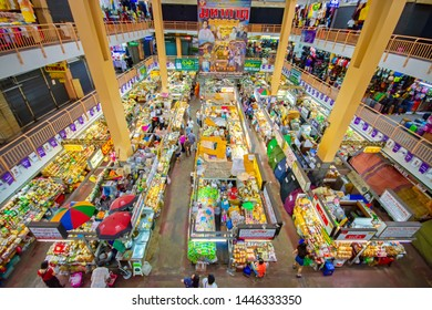 CHIANGMAI,THAILAND - JULY 10, 2019 Warorot Market, locally called Kad Luang, is the one of Chiang Mai's largest market.The place to go to buy cheaper and better quality goods.