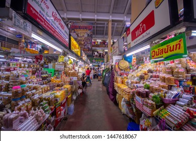 CHIANGMAI,THAILAND - JULY 10, 2019 Warorot Market, locally called Kad Luang, is the one of Chiang Mai's largest market.The place to go to buy cheaper and better quality good
