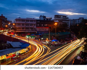 CHIANGMAI,THAILAND - July 20, 2018 Night Warorot Market, locally called Kad Luang, is the one of Chiang Mai's largest market.The place to go to buy cheaper and better quality goods