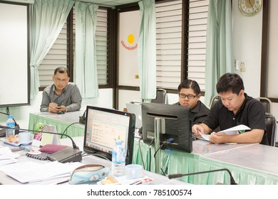 Chiangmai-Thailand. July,26,2017. Personnel interviewed using hospital information system and medical and health information from hospital information system at RICD
