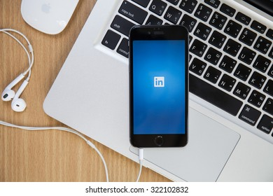 CHIANGMAI,THAILAND - SEPTEMBER 30, 2015:Linkedin is a social networking website for people in professional occupations. As of June 2013 more than 259 million users in more than 200 countries.