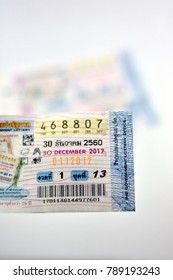 Chiangmai,Thailand,Jan 5,2018.New form of Thailand government lottery.The legal and popular gambling luck of Thai people and will be issued two times per month.