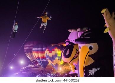 Chiangrai February 12 :Balloon festival at SingPark Chiangrai on 12 Feb 2016,chiangrai,thailand