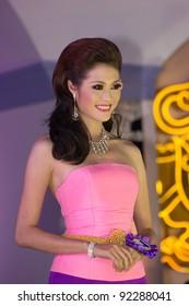 "CHIANGRAI, THAILAND - DECEMBER 25: Kirana Wongthong during the ""miss chiangrai contest 2011"" at Chiangrai province on December 25, 2011 in Chiangrai, Thailand."