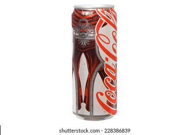 CHIANGRAI, THAILAND - NOVEMBER 4: Coke light can in Burmese language, sell only at  border of Thailand, was taken on November 4, 2014, Chiangrai, Thailand.