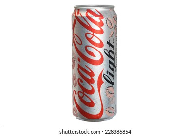 CHIANGRAI, THAILAND - NOVEMBER 4: Coke light can in kiss lip design, was taken on November 4, 2014 in Chiangrai, Thailand.