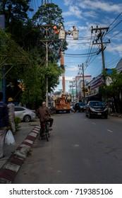 ChiangRai THAILAND - September: 19: 2017: rehearsal cables in ChiangRai Thailand.