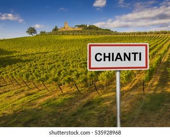 Chianti wine region of Tuscany, Italy