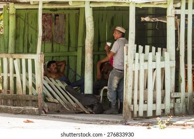 Chiapas, Mexico: 24 March, 2015. People in village, Chiapas, Mexico