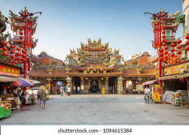 Chiayi, Taiwan - May 6, 2017: Facade view of Fengtian Temple, one of the most important Mazu temples in Taiwan