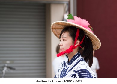 chiba, japan, 08/16/2019 , Myoken Taisai, a famous festival held in Chiba city every summer since1127. It last one week.
