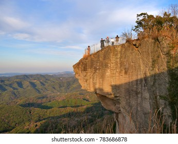 CHIBA JAPAN DEC 23, 2017 : Tourist watching scenery on cliff of hell at Mt.Nokogiri