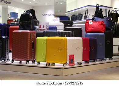 CHIBA, JAPAN - December 4, 2018: View of a Samsonite shop located in a Chiba City department store.
