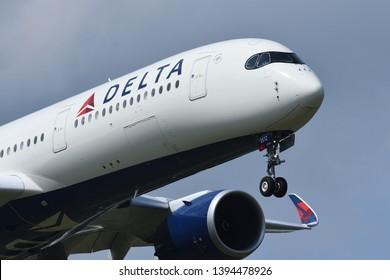 Chiba, Japan - May 05, 2019:Delta Air Lines Airbus A350-900 (N512DN) passenger plane.