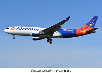 Chiba, Japan - May 18, 2019:Aircalin Airbus A330-200 (F-OJSE) passenger plane.
