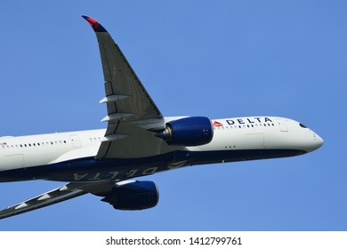 Chiba, Japan - May 18, 2019:Delta Air Lines Airbus A350-900 (N509DN) passenger plane.