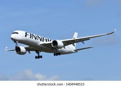 Chiba, Japan - May 18, 2019:Finnair Airbus A350-900 (OH-LWO) passenger plane.