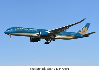 Chiba, Japan - May 18, 2019:Vietnam Airlines Airbus A350-900 (VN-A895) passenger plane.