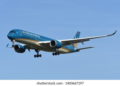 Chiba, Japan - May 18, 2019:Vietnam Airlines Airbus A350-900 (VN-A898) passenger plane.