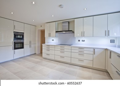 Chic modern contemporary kitchen with fitted appliances