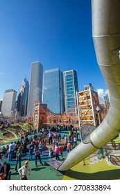 CHICAGO - April 10 : Downtown's Newest Playground: Maggie Daley Park on April 10, 2015  it sits just outside Millennium Park just steps from the lakeshore.