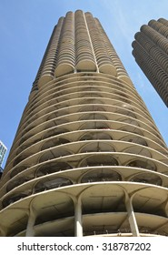 Chicago - August 13: Marina City tower in Chicago, USA on August 13, 2015. Designed by Bertrand Goldberg the residential complex was the tallest concrete structure in the world when completed in 1964.