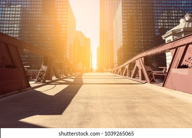 Chicago Bridge in the Morning