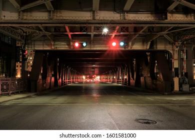 Chicago bridge at night n November