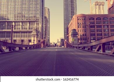 Chicago Bridge - Vintage Picture Effect