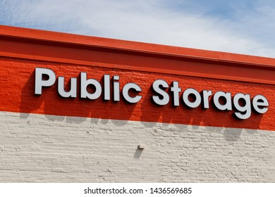Chicago - Circa June 2019: Public Storage self storage location. Public storage is run as real estate investment trust (REIT) and provides moving services II