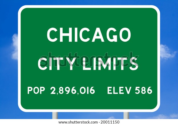 Chicago City Limits Road Sign Stock Photo (Edit Now) 20011150