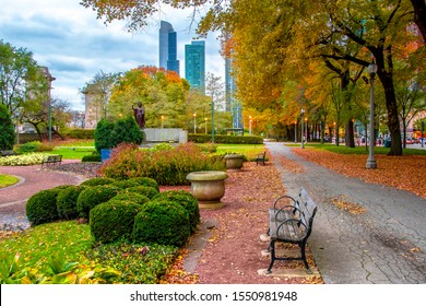 Chicago City park view in Illinois of USA.