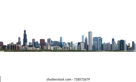 Chicago city skyline on isolate