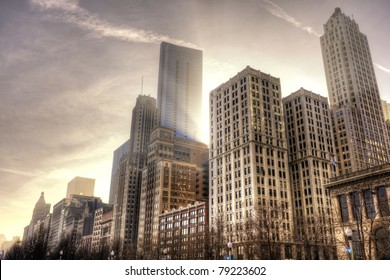 Chicago Downtown in the afternoon light