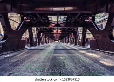 Chicago Downtown Bridge, winter scenery