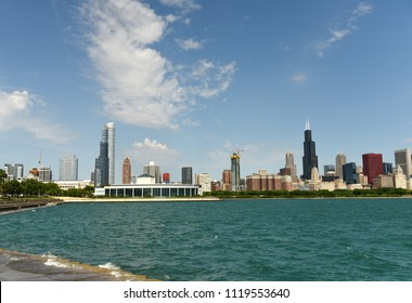 Chicago downtown cityscape.
