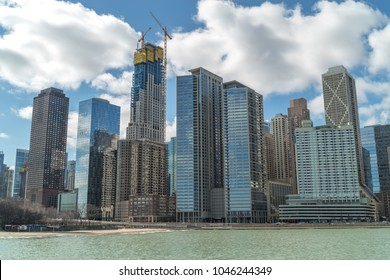 Chicago downtown condominium high rise buildings skyline
