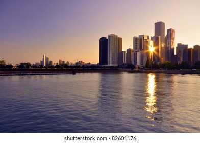 Chicago Downtown Sunset