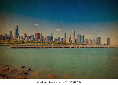 Chicago Downtown Vintage Style