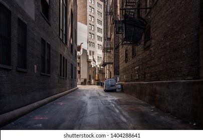 Chicago empty alley at daytime