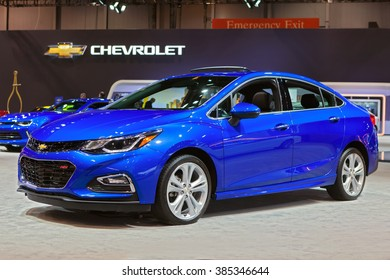 CHICAGO - February 11: The 2017 Chevy Cruze on display at the Chicago Auto Show media preview February 11, 2016 in Chicago, Illinois.