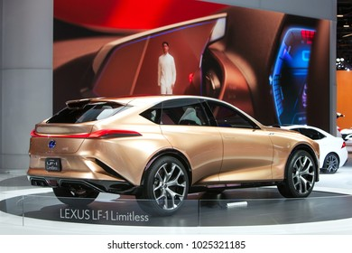 CHICAGO - February 11: The Lexus LF-1 Limitless concept vehicle on display at the Chicago Auto Show media preview February 11, 2016 in Chicago, Illinois.