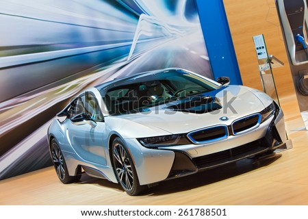 Chicago February 12 Bmw I 8 Electric Stock Photo Edit Now