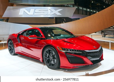 Chicago - February 13: An Acura NSX on display February 13th, 2015 at the 2015 Chicago Auto Show in Chicago, Illinois.