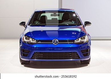 Chicago - February 13: A Volkswagen Golf on display February 13th, 2015 at the 2015 Chicago Auto Show in Chicago, Illinois.